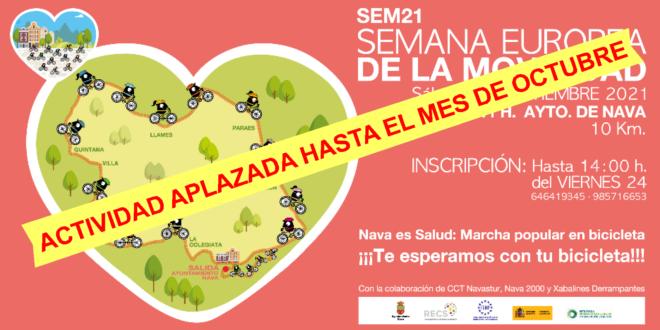 CAMBIO DE FECHA: Nava celebra la Semana Europa de la Movilidad en bicicleta