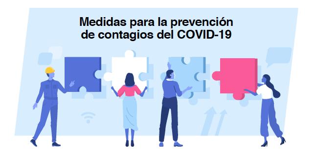 Guía para la prevención de contagios del Covid-19 en los centros de trabajo