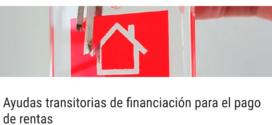 Ayudas transitorias de financiación para el pago derentas
