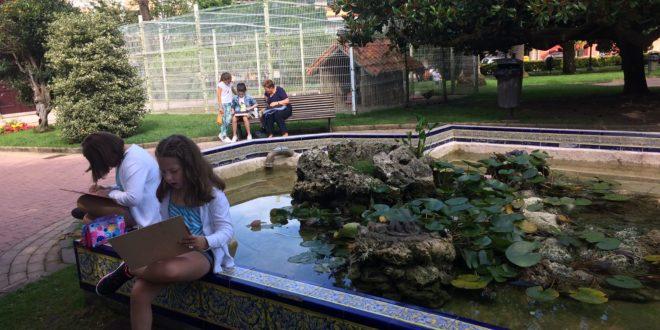 El parque de la villa se llenó otra vez de pequeños artistas