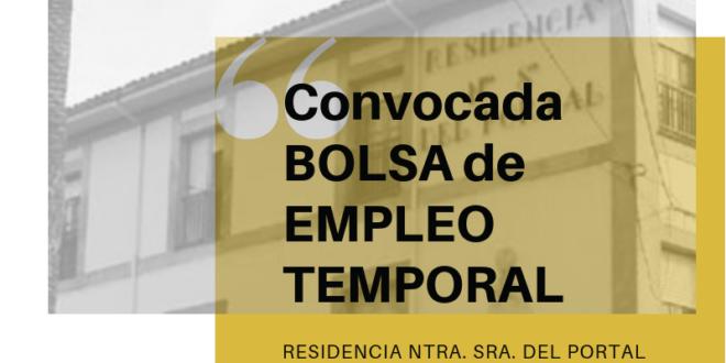 Convocadas Bolsas de Empleo para la Residencia Ntra. Sra. del Portal