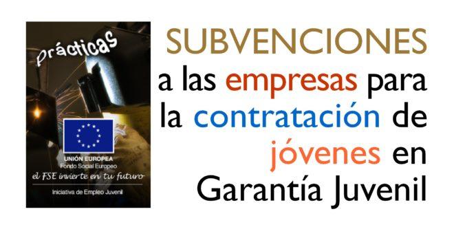 ¡¡¡Atención empresas!!! Subvenciones para contratos en prácticas o en formación de jóvenes de Garantía Juvenil.