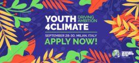 Youth4Climate. Oportunidad para participar en la nueva cumbre joven sobre el clima