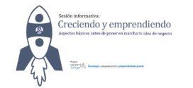 """Sesión informativa en Sariego: """"Creciendo y emprendiendo"""". Aspectos básicos antes de poner en marcha tu idea de negocio."""
