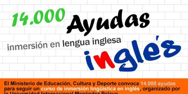 14.000 ayudas para participar en cursos de inmersión en lengua inglesa.
