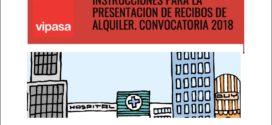 PLAZO para presentación de los recibos de alquiler. CONVOCATORIA, 2018.