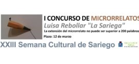 """I Concurso de microrrelatos Luisa Rebollar. """"La Sariega"""". Semana Cultural de Sariego"""