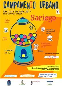 cartel campamento sariego 2017