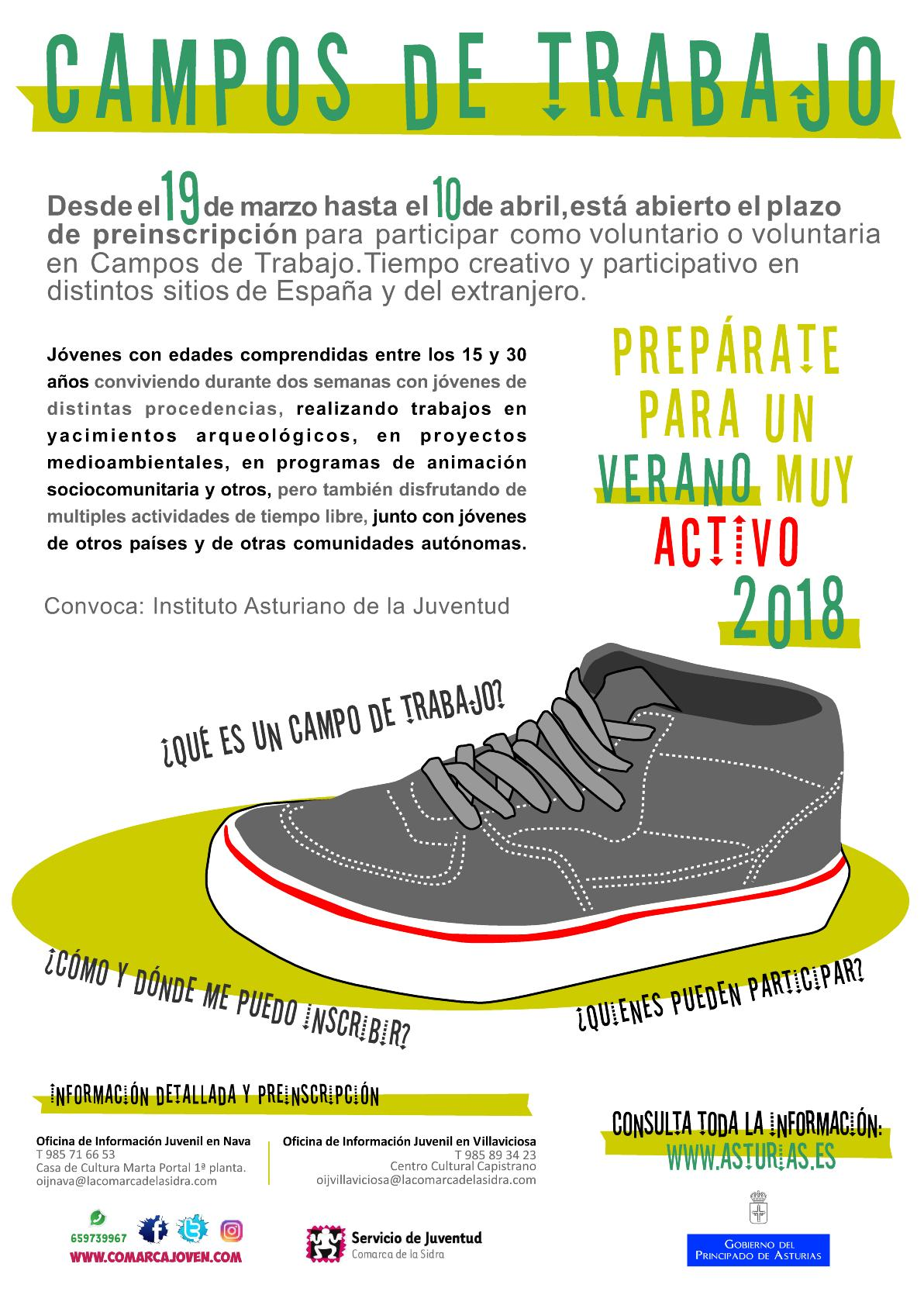 Convocatoria Del Programa Campos De Trabajo 2018 Servicio De