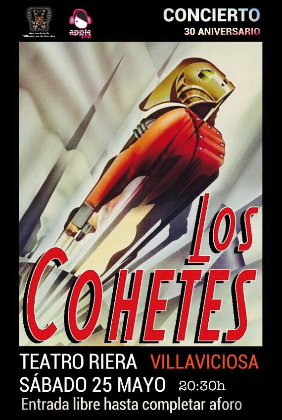 Los Cohetes en concierto el 25 de mayo