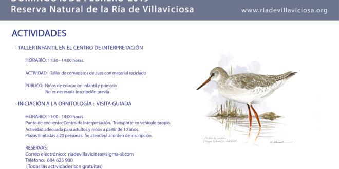 Día de los Humedales 2019, visita guiada y actividades en la RNP Ría de Villaviciosa