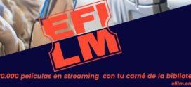Plataforma eFilm. Cine online para usuarios/as de bibliotecas