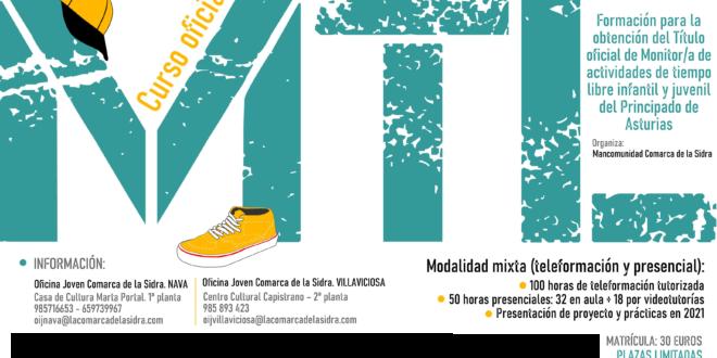 ¡Novedad! Curso de MTL en modalidad mixta (presencial y telemática) para jóvenes de la Comarca de la Sidra