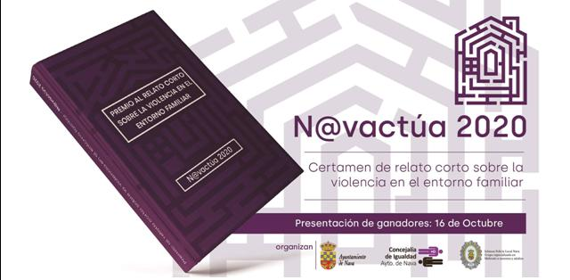 """Fallo del Jurado del Premio de Relato Corto """"N@vactua"""" sobre violencia en el entorno familiar. Año 2020."""