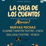 nuevas fechas LA CASA DE LOS CUENTOS 2017