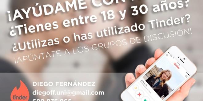 Colaboración para un trabajo fin de grado sobre el uso de la app Tinder