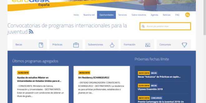 La web eurodesk.es se está actualizando de nuevo