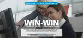 La Caixa apoya con ayudas a las empresas la contratación de jóvenes en Garantía Juvenil